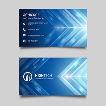 Cartão de visita azul brilhante