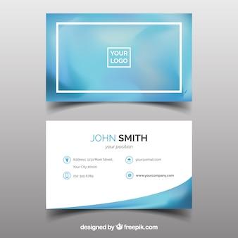 Cartão de visita borrado