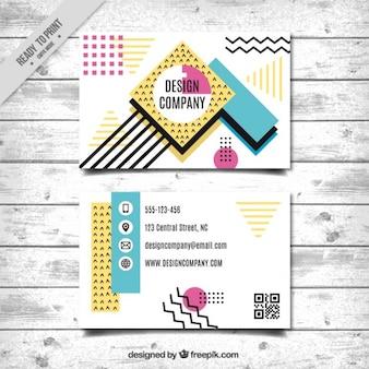 Cartão de visita com design abstrato