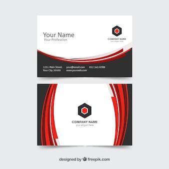 Cartão de visita com estilo elegante