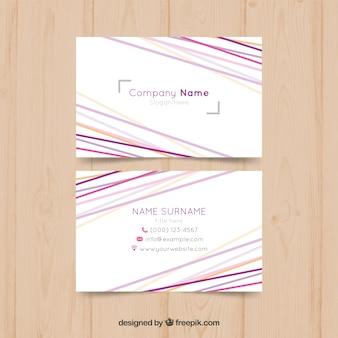 Cartão de visita com linhas abstratas