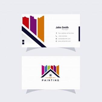 Cartão de visita com logotipo geométrico