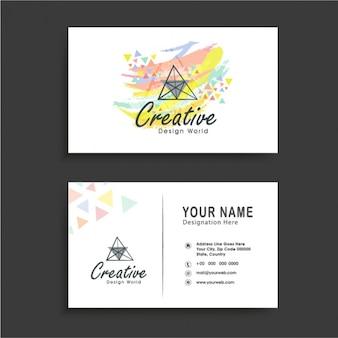Cartão de visita com mancha abstrato colorido