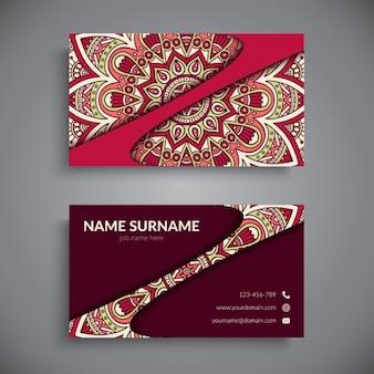 Cartão de visita com mandala