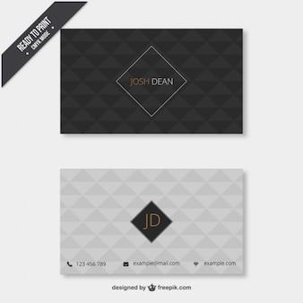 Cartão de visita com padrão geométrico