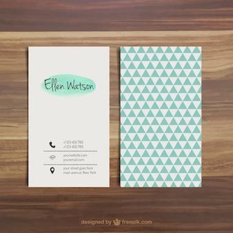 Cartão de visita com triângulos azuis