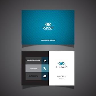 Cartão de visita com um design limpo e moderno