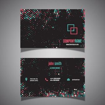 Cartão de visita com um design pontos de retícula