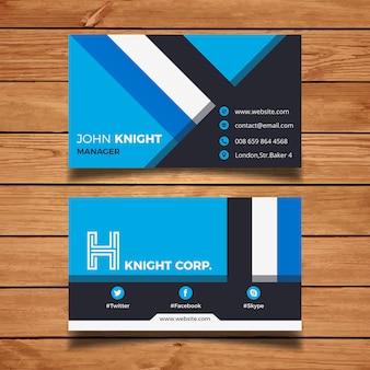 Cartão de visita corporativo azul