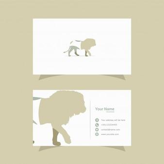 Cartão de visita design de leão