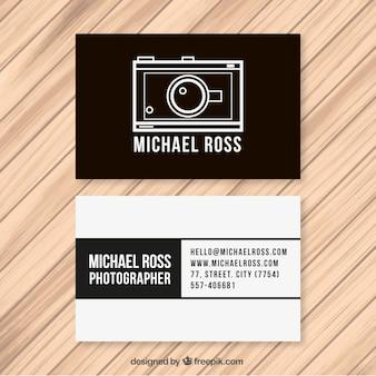 Cartão de visita do fotógrafo monocromático