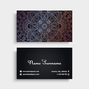 Cartão de visita Elementos decorativos do vintage Cartões de visitas florais ornamentais ilustração vetorial padrão do padrão