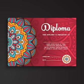 Cartão de visita Elementos decorativos vintage Cartões-de-visita decorativos florais ornamentais Ilustração oriental do vetor do teste padrão