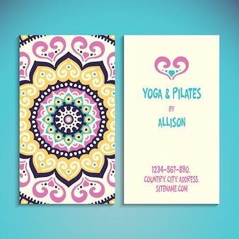 Cartão de visita Elementos decorativos vintage Fundo desenhado à mão