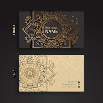 Cartão de visita, estilo étnico