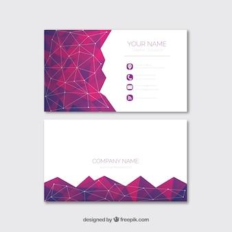 Cartão de visita geométrico com estilo moderno