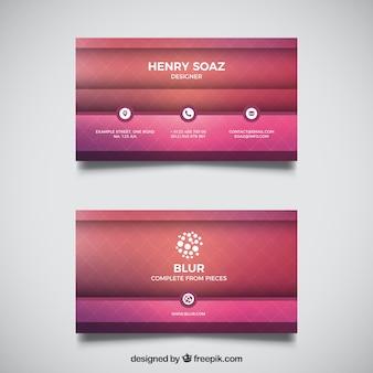 Cartão de visita geométrico em tons roxos