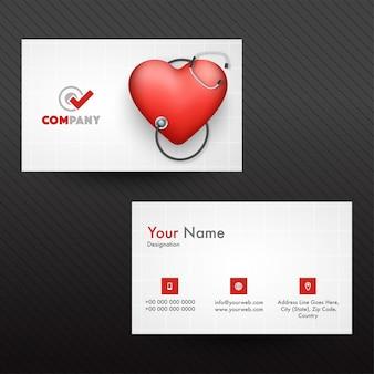 Cartão de visita horizontal ou cartão de visita para médicos.