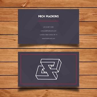 Cartão de visita minimalista cinzento