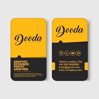 Cartão de visita moderno preto e amarelo