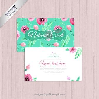 Cartão de visita Natural