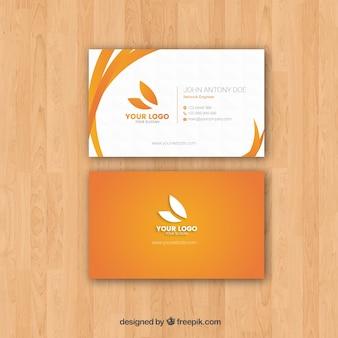 Cartão de visita plano com estilo elegante