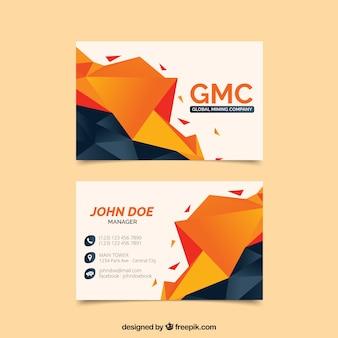 Cartão de visita poligonal