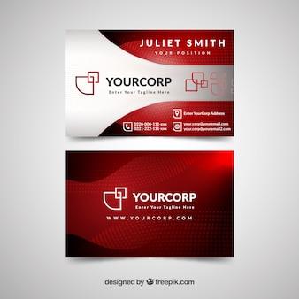 Cartão de visita profissional com estilo moderno