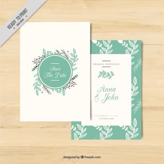 Cartão decorado com flores para um casamento