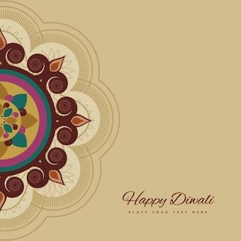 Cartão Diwali feliz