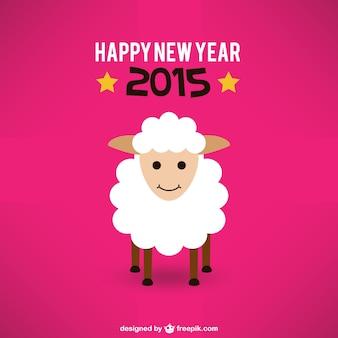 Cartão do ano novo com as ovelhas