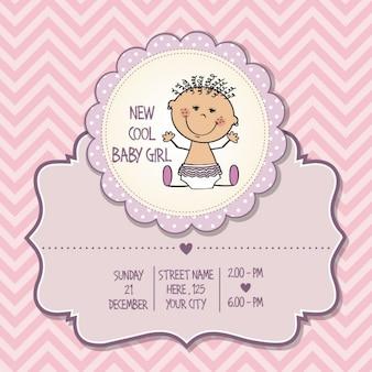 Cartão do chuveiro menina
