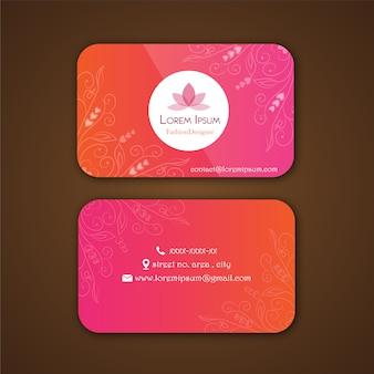 Cartão do desenhador de moda