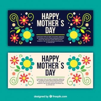 Cartão do dia da mãe flor colorida