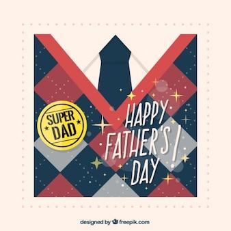 Cartão do dia dos pais com jersey losango