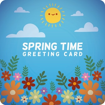 Cartão do dia ensolarado de primavera