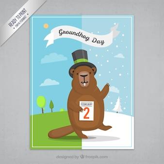 Cartão do dia Groundhod