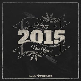 Cartão do feliz ano novo do vintage