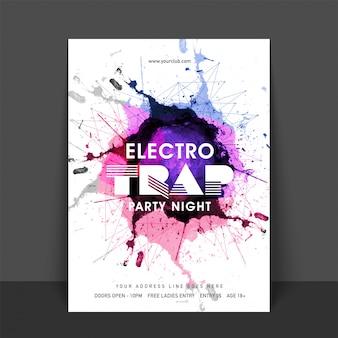 Cartão electro disco música splash