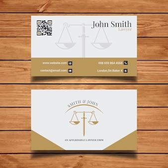 Cartão elegante do advogado