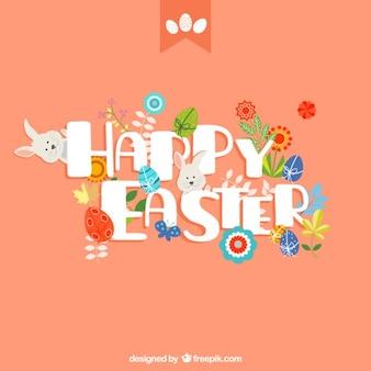 Cartão engraçado da páscoa com coelhos