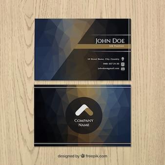 cartão escuro no estilo poligonal