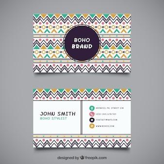 Cartão étnica no design plano
