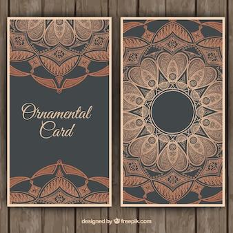 Cartão floral ornamental