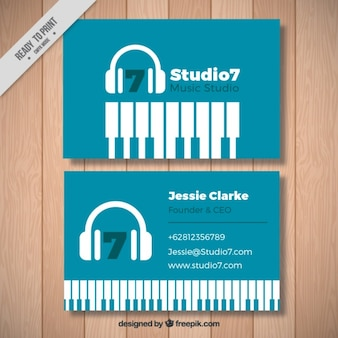 Cartão moderno do estúdio de música