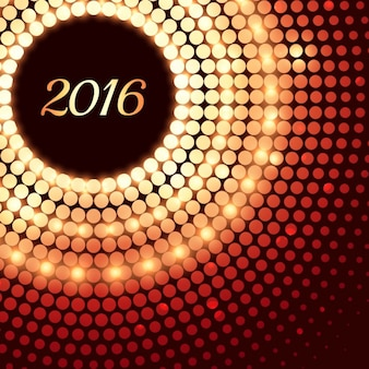 cartão novo feliz ano criativo feito com pontos