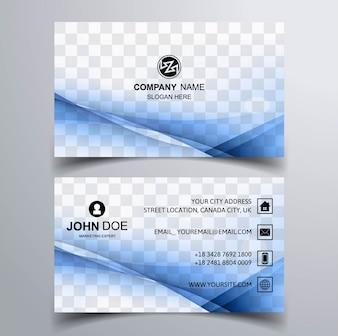 Cartão ondulado azul
