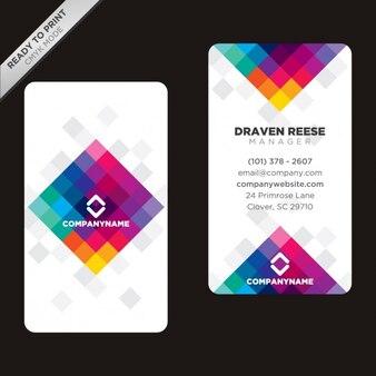 cartão poligonal colorido