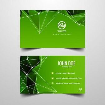 cartão poligonal Verde