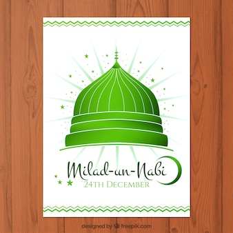 Cartão verde Milad-un-Nabi